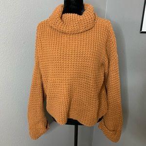 Sweaters - turtleneck rust colored sweater